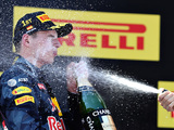 Verstappen wins on Red Bull debut as Mercedes drivers collide