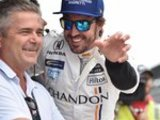 Alonso on second row at Indy