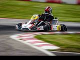 Leclerc warms up with kart running