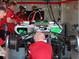 Manor fires up ahead expected track run