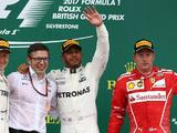 Lewis Hamilton dominates British GP as puncture hits Sebastian Vettel
