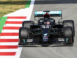 Hamilton leads a Mercedes one-two in practice two for the Spanish Grand Prix