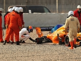 Brown downplays lost track time after Alonso off