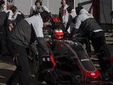 Fuel system trouble halts Haas