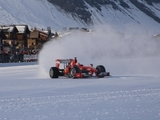 Fisichella conducts Ferrari run in snow