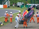 Kvyat to start from pits after biggest crash of career