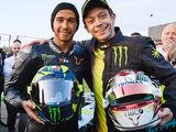 Hamilton and Rossi's F1, MotoGP swap!