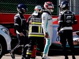 Hamilton crashes, Ferrari still dominant