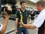 Rossi and Stevens testing for Caterham