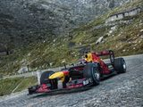 Sebastien Buemi tackles the Tremolastrasse in the Red Bull RB8