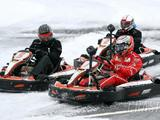 Kimi Raikkonen takes on ice karting!