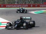 Lewis Hamilton wins chaotic Tuscan Grand Prix after two red flags