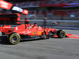 Vettel downplays Ferrari performance despite topping the times on day 5