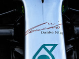 Mercedes W10 sports tribute to Lauda
