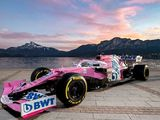 Racing Point unveils new car with updated pink BWT livery