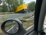 Renault truck crashes en-route to Hungary