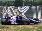 Albon wrecks Toro Rosso in wet session: Hungarian GP FP2 Results