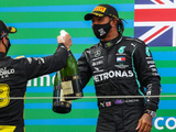 "Hamilton happy ""toe jam"" 'shoey' impressed Ricciardo's mother"
