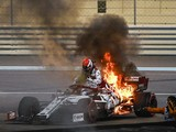 "Raikkonen: ""Nothing scary"" about F1 engine fire in Abu Dhabi GP practice"