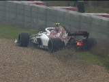 Leclerc eats dirt, brings out the reds