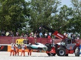 Hamilton, Rosberg out after spectacular lap one clash