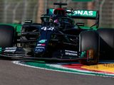 Hamilton tops the sole practice session as Mercedes dominates at Imola