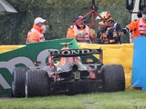 Perez crashes out before Belgian Grand Prix