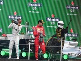 "Vettel a fan of innovative Mexican GP podium but not ""selfie guy"""