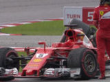 Vettel crashes after the race