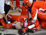 Ferrari mechanic injured by Raikkonen returns to work