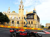 Perez wins crazy race at Baku as championship contenders leave point-less