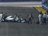 Rosberg retirement due to wiring loom failure