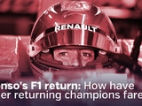 Video: Alonso's F1 return – How have other returning champions fared?