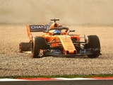 Alonso off spins in Barcelona testing