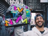 Ricciardo shows off his 2020 F1 helmet