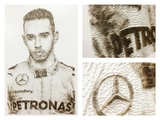 Lewis Hamilton in 31,800 nails!