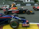 Shades of 2012 as Alonso sent flying at Spa