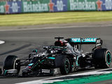 Hamilton wins British GP after late tyre scare