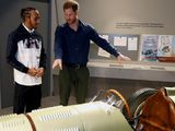 Lewis Hamilton joins Prince Harry at opening of Silverstone museum