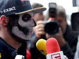 Daniel Ricciardo, Max Verstappen face F1 media with Day of the Dead face paint