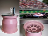 NEW! Pink wheel rim table