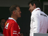"Wolff believes ""cracks"" were evident in Ferrari/Vettel relationship"