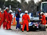 Albon laughs off first-lap spin on F1 test debut