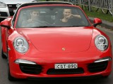 Webber takes tennis star Sharapova for a spin