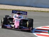 Perez describes first day of F1 winter testing as 'promising' for Racing Point