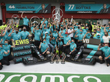In photos: Mercedes marks magnificent seventh with century of hybrid era wins