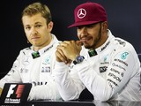 Lewis Hamilton followed Mercedes team-mate Nico Rosberg's direction