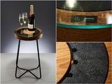 Race-used Schumacher/ Rosberg brake disc table!
