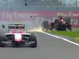 British GP red flagged after first lap incident