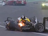 Webber fine after voilent crash in 6h of Sao Paolo